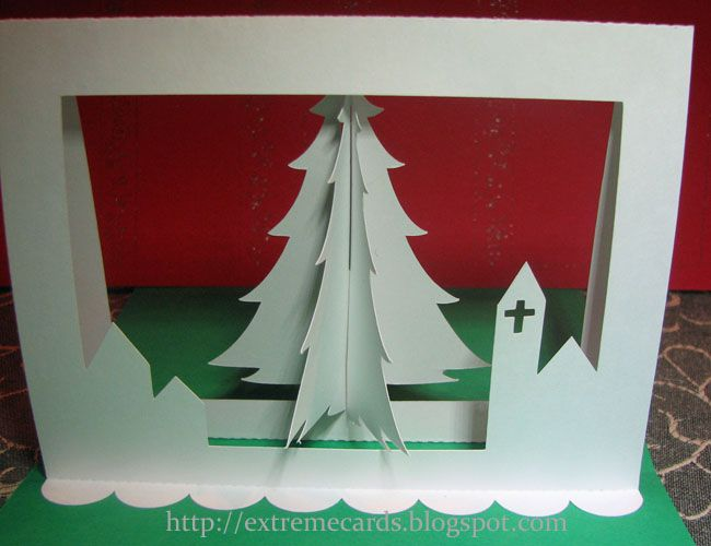 3d Christmas Tree Pop Up 1 Christmas Card Tutorials Pop Up Christmas Cards Christmas Tree Cards