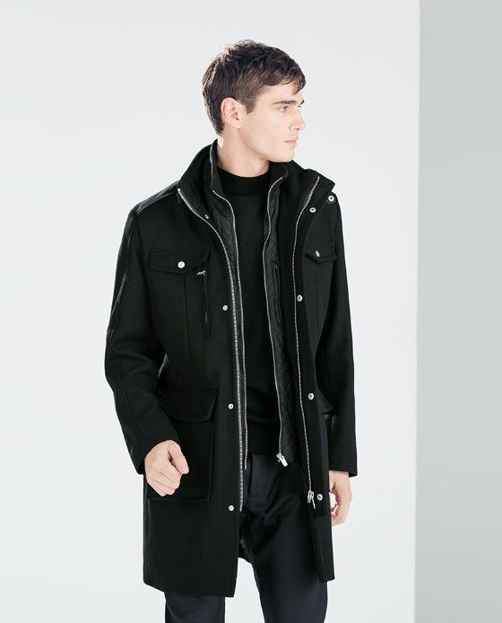 ZARA - SALE - ZIPPED SHORT COAT