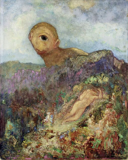 Odilon Redon Le Cyclope The Cyclops Ca 1914 Odilon Redon Post Impressionism Painting