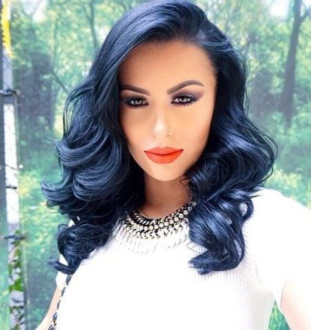 Cool Blue Black Hair Color Best Trends 2017 Top Ideas For You