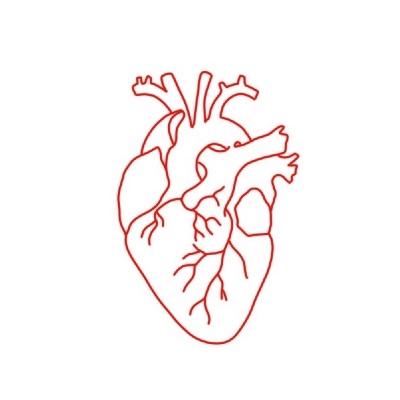 Flash Coeur Rouge Fine Line Illustratif Tattoo Par Le Point D