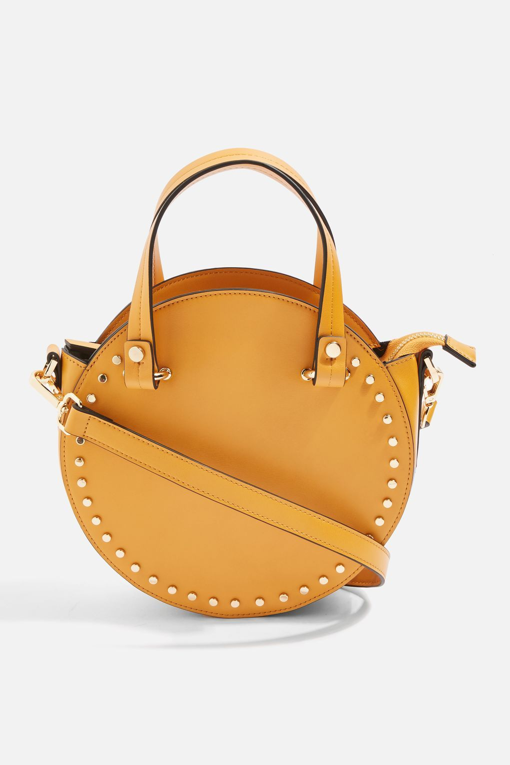 92735902a Taylor Mustard Round Circle Studded Tote Bag | Fashion : Jewellery ...