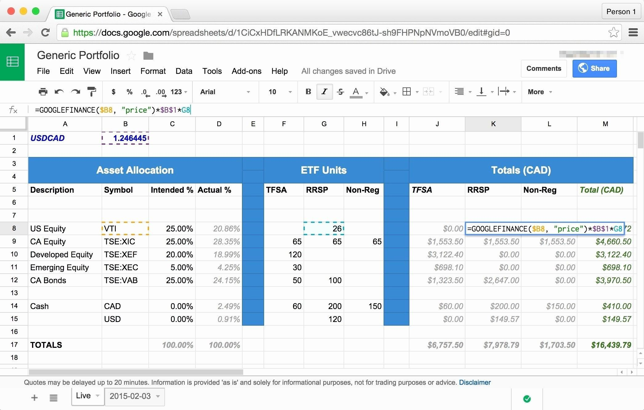 excel spreadsheet investment tracking
