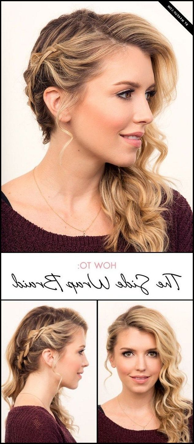 easy diy tutorials for glamorous and cute hairstyle in