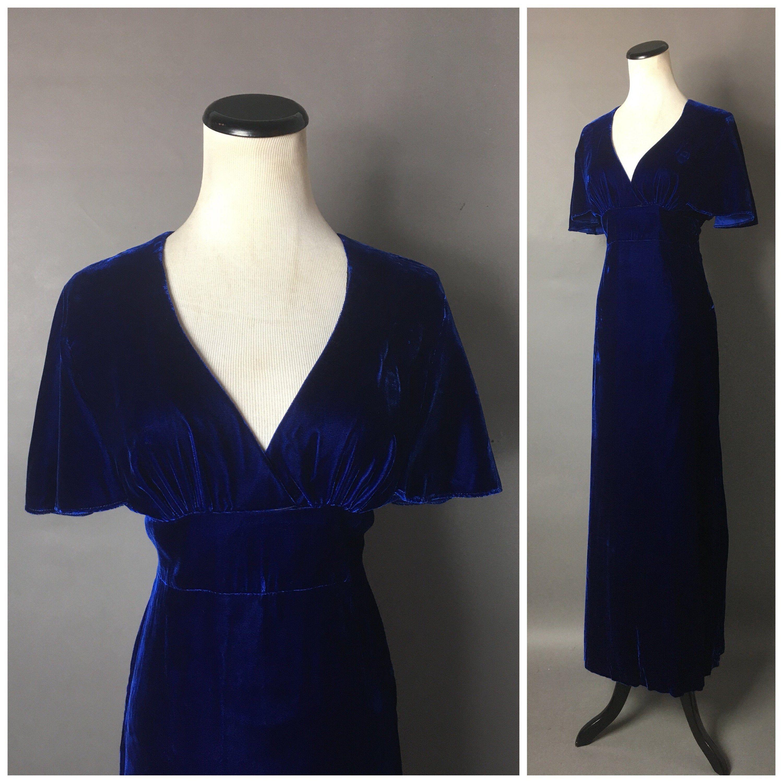 Vintage 70s Dress 1970s Dress Velvet Dress Maxi Dress Etsy Maxi Dress Cocktail Vintage Dress 70s Hippie Dresses [ 3000 x 3000 Pixel ]