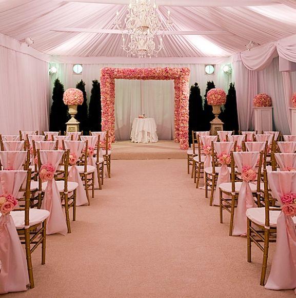Ceremony And Reception Under Tent: Elegant Tent Wedding-Ceremony