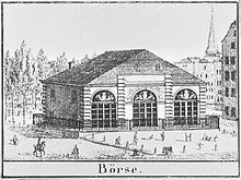 Die Kölner Börse am Heumarkt (1827). Alte fotos