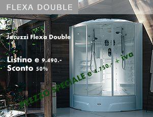 Jacuzzi box doccia multifunzione flexa double modello elt doccia
