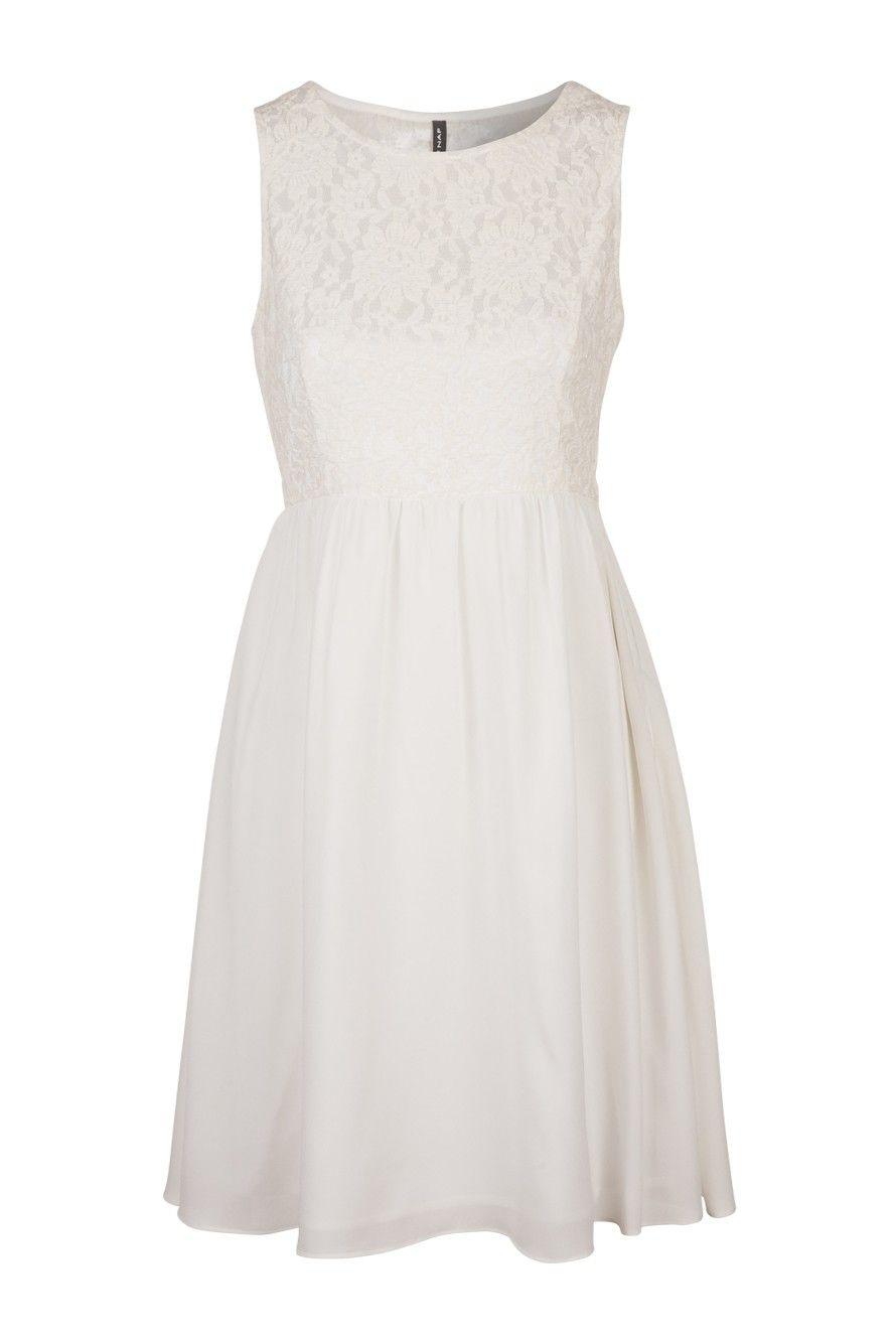 5b13f00efd Robe buste en dentelle NAF NAF | fashion | Robe blanche dentelle ...