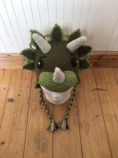 dinosaur crochet hat free pattern #crochetdinosaurpatterns