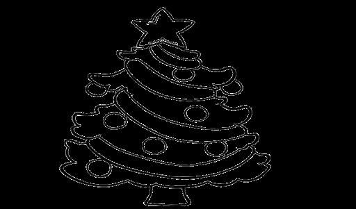 Gambar Mewarnai Pohon Natal Berbintang Coloring Natal Tape Dan