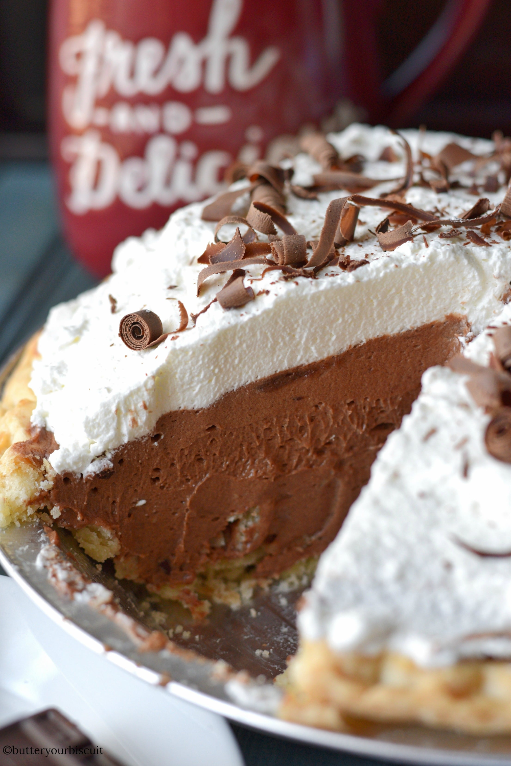 Chocolate Cream Pie Easy Recipe- Butter Your Biscuit