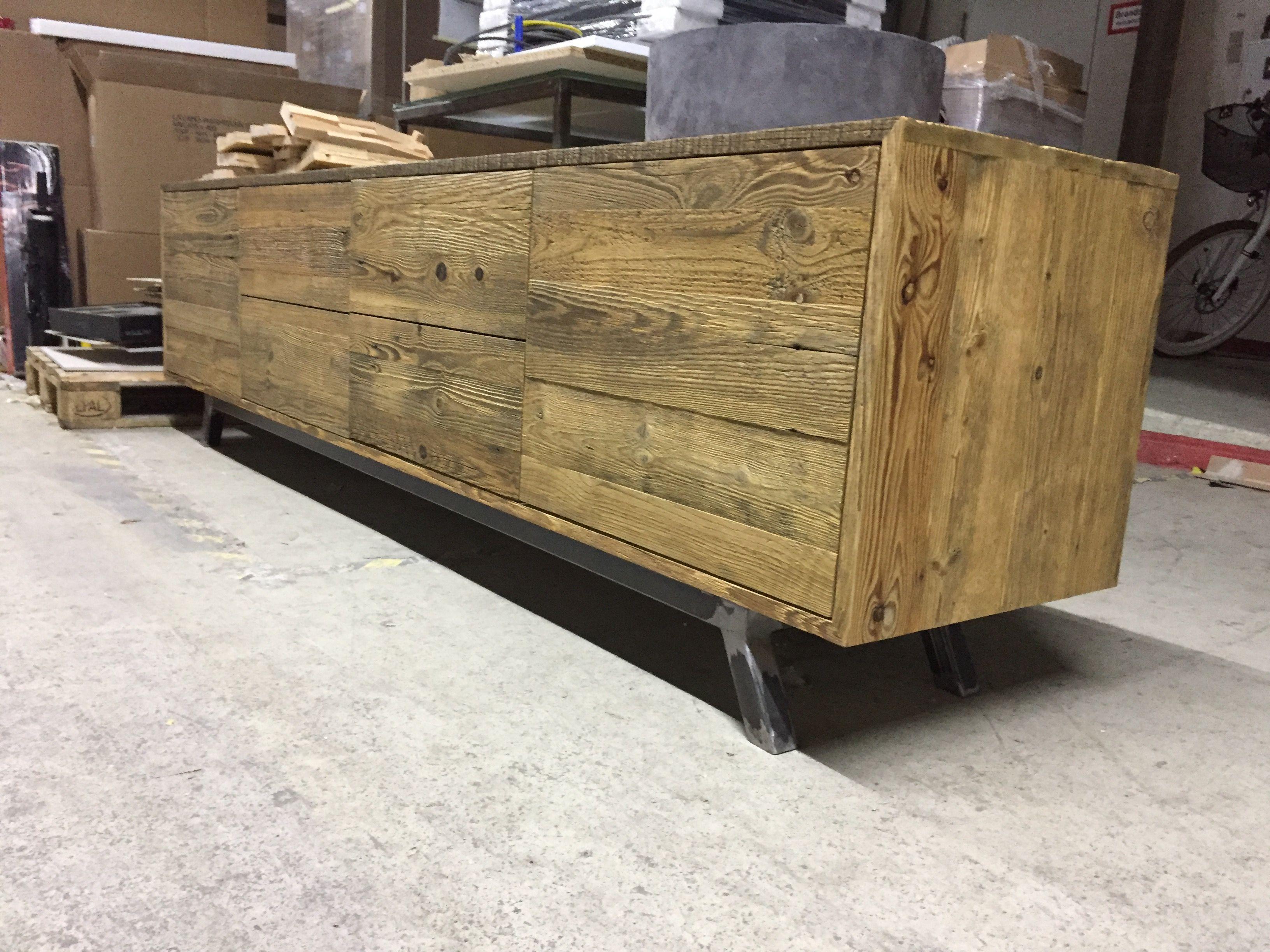 Altholz Unterschrank Lowboard Auf Mass Von Www One Bath De Altholz Unterschrank Holz
