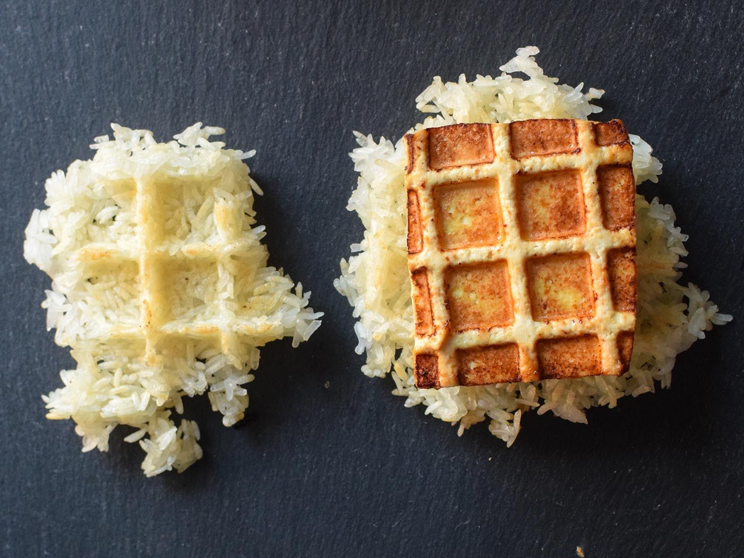 Use Your Waffle Iron for Seriously Crispy Tofu One of the best parts about fried tofu is the contrast between the crispy outside and the pillowy soft inside. With deep frying, getting there means a lot of oil. With stir-frying it means a lot of, well, stirring. With waffling, it means neither. Low mess, low effort. Your Waffle Iron for Seriously Crispy Tofu One of the best parts about fried tofu is the contrast between the crispy outside and the pillowy soft inside. With deep frying, getting there means a lot of oil. With stir-frying it means a lot of, well, stirring. With waffling, it means neither. Low mess, low effort.One of the best parts about fried tofu i...