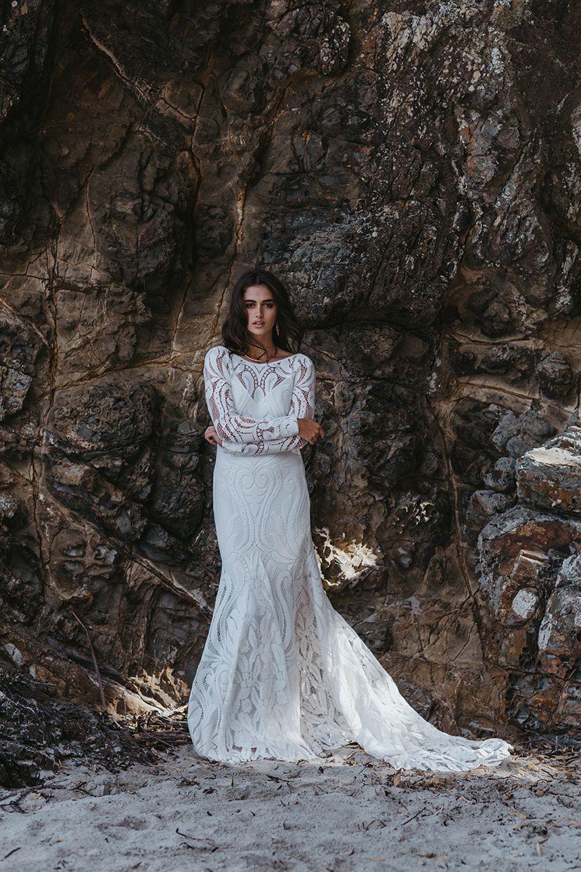 Boho wedding dress with sleeves  Bohemian wedding dress with long sleeves by Lovers Society style