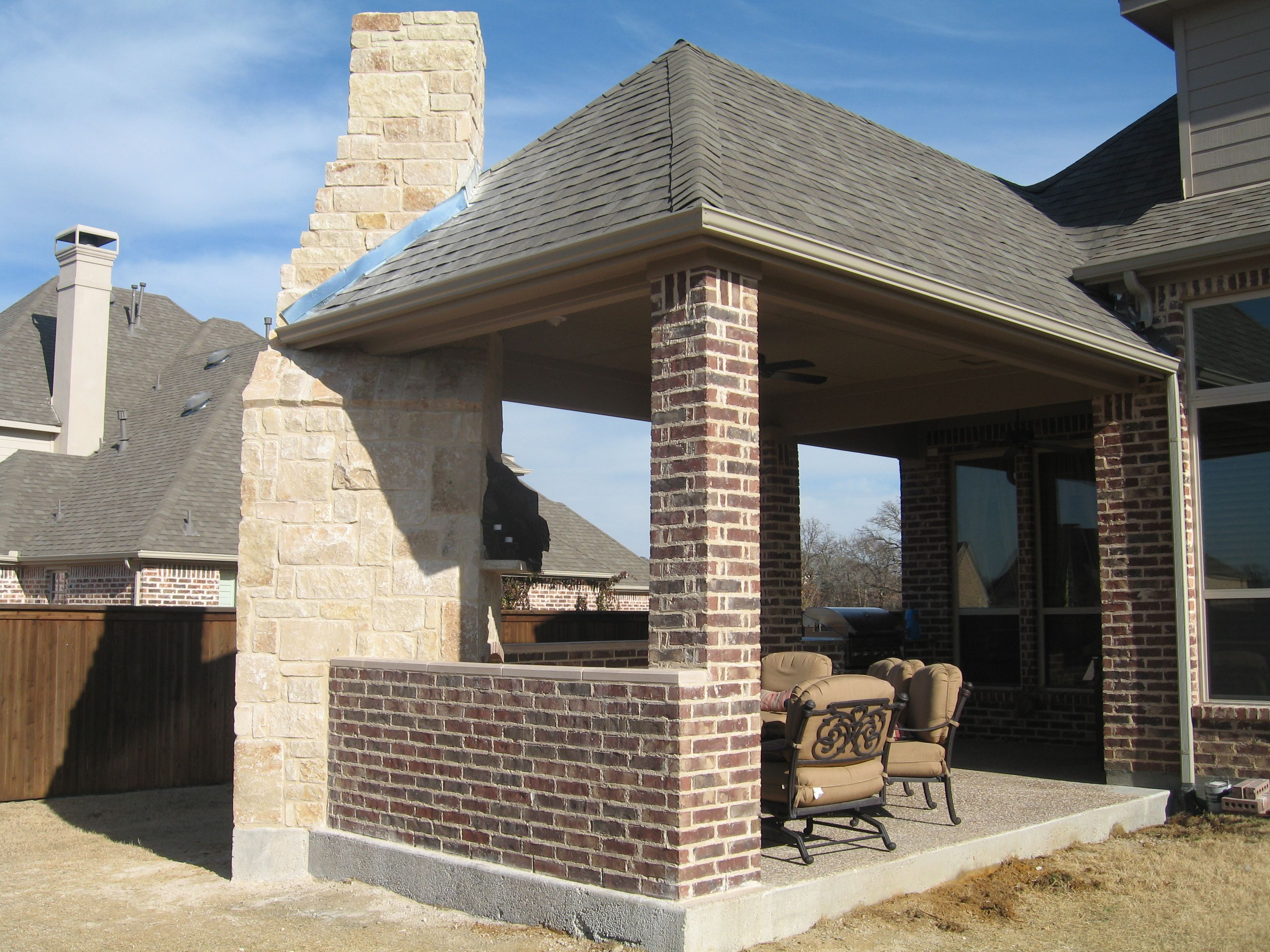 Outdoor Patio Kitchen Fabulous Brick Column And Fences Also Cool Outdoor Kitchen And