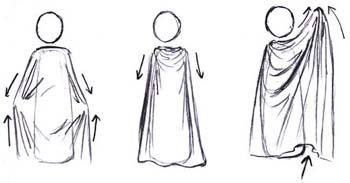 how to draw a hooded cloak