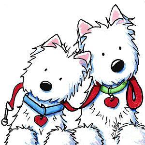 westie dog park duo canvas print canvas art by kim niles dog rh pinterest co uk clipart westie dogs westie clipart free