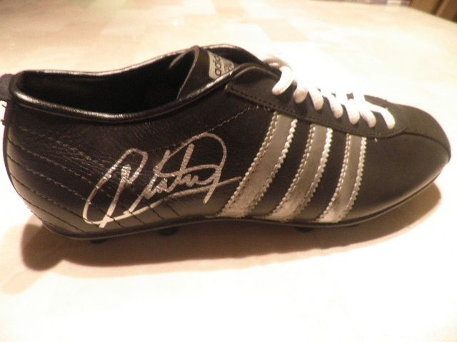 b226d003dcc4 MICHEL PLATINI adidas vintage SIGNED SOCCER BOOT FOOTBALL France ...