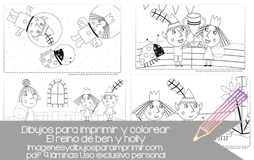 dibujos de ben y holly para imprimir y colorear, dibujos para ...