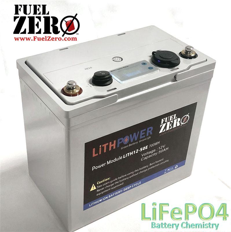 Fuelzero 12v 50ah Deep Cycle Lifepo4 Battery Deep Cycle Battery Battery Lithium Iron Phosphate Battery