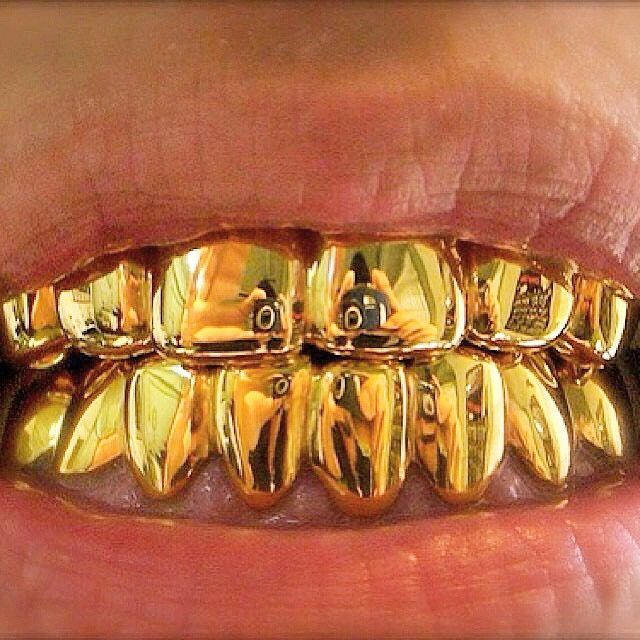 8 TOPS, 8 BOTTOMS 14K CUSTOM GOLD GRILL/PULL OUTS   YG,RG,WG  IN