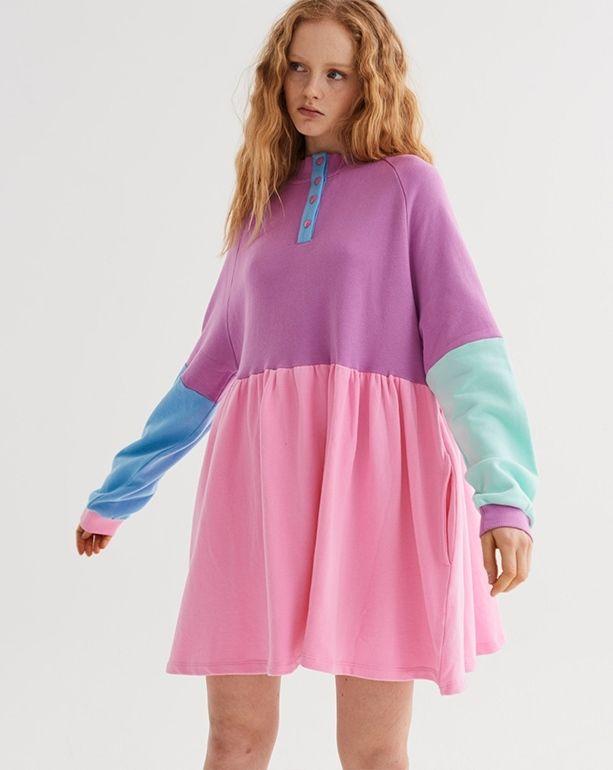 a721bfb35972 Lazy Oaf Panel Popper Sweater Dress - Autumn 2017 - Seasons - Womens ...