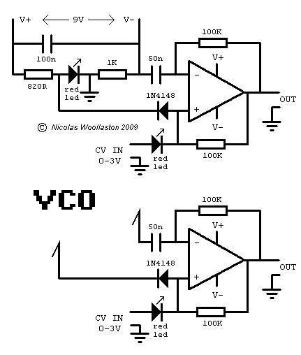 Electromusiccom wiki Schematics Sawtooth VCO By Ian Fritz