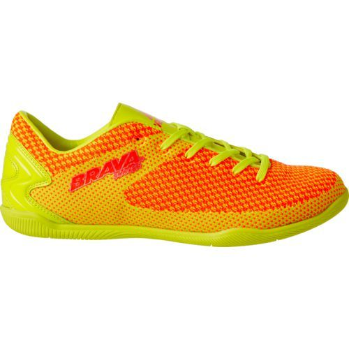 e2318cf2b Brava Soccer Men's Injected Indoor Soccer Cleats (Yellow/Orange, Size 9.5)  - Adult Soccer Shoes at Academy Sports