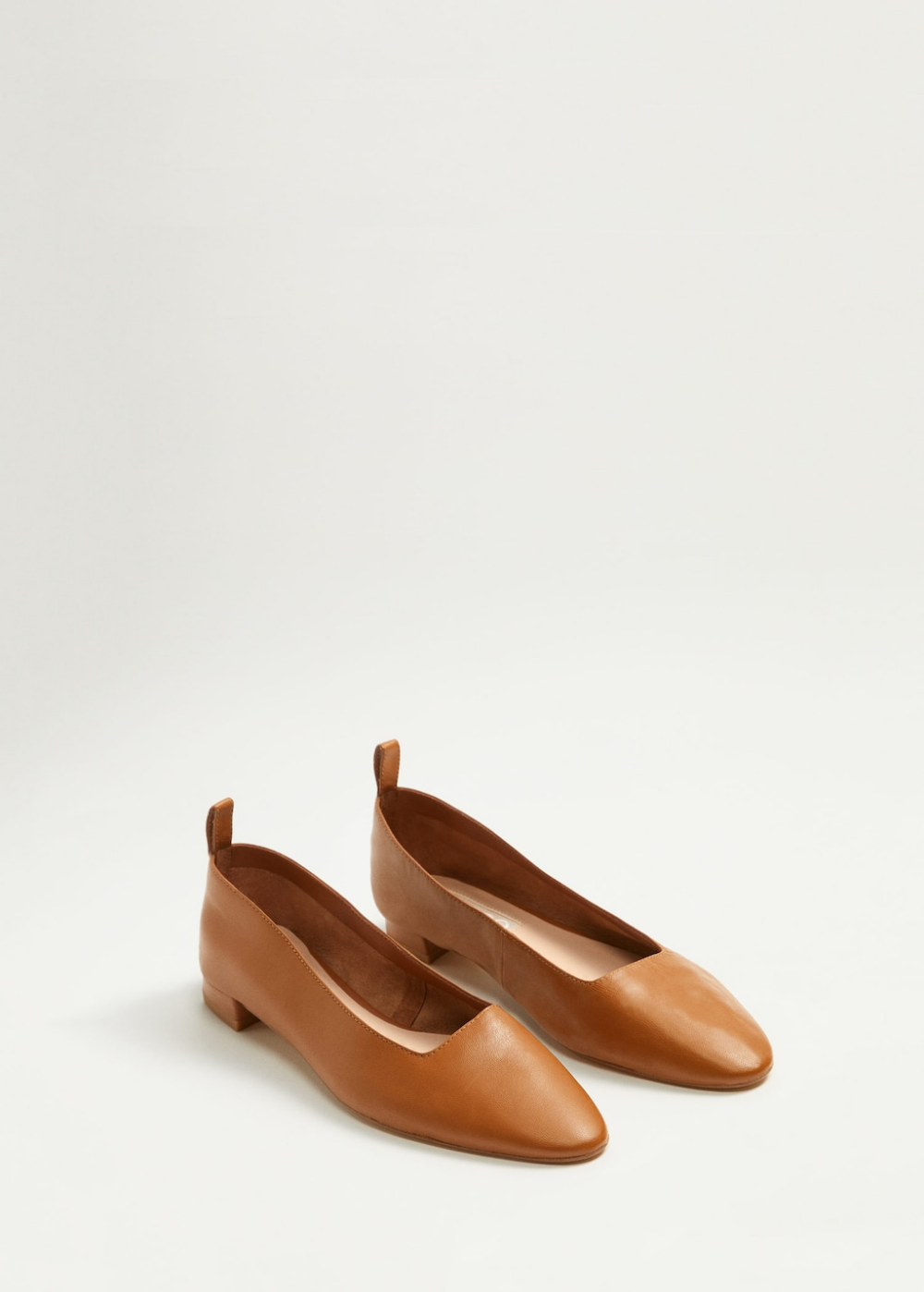 Leather flat shoes Women | Mango United Kingdom | Damskor
