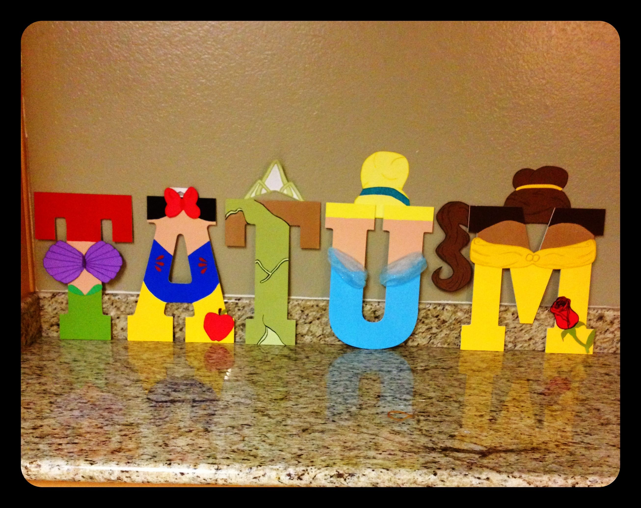 Disney Princess Letters Baby Girls Room Wood Letters