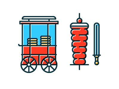Simit Cart & Doner Kebab by Tamer Köşeli