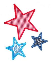 3 Stars Applique - 2 Sizes! | 4th of July | Machine Embroidery Designs | SWAKembroidery.com JesseKate Designs