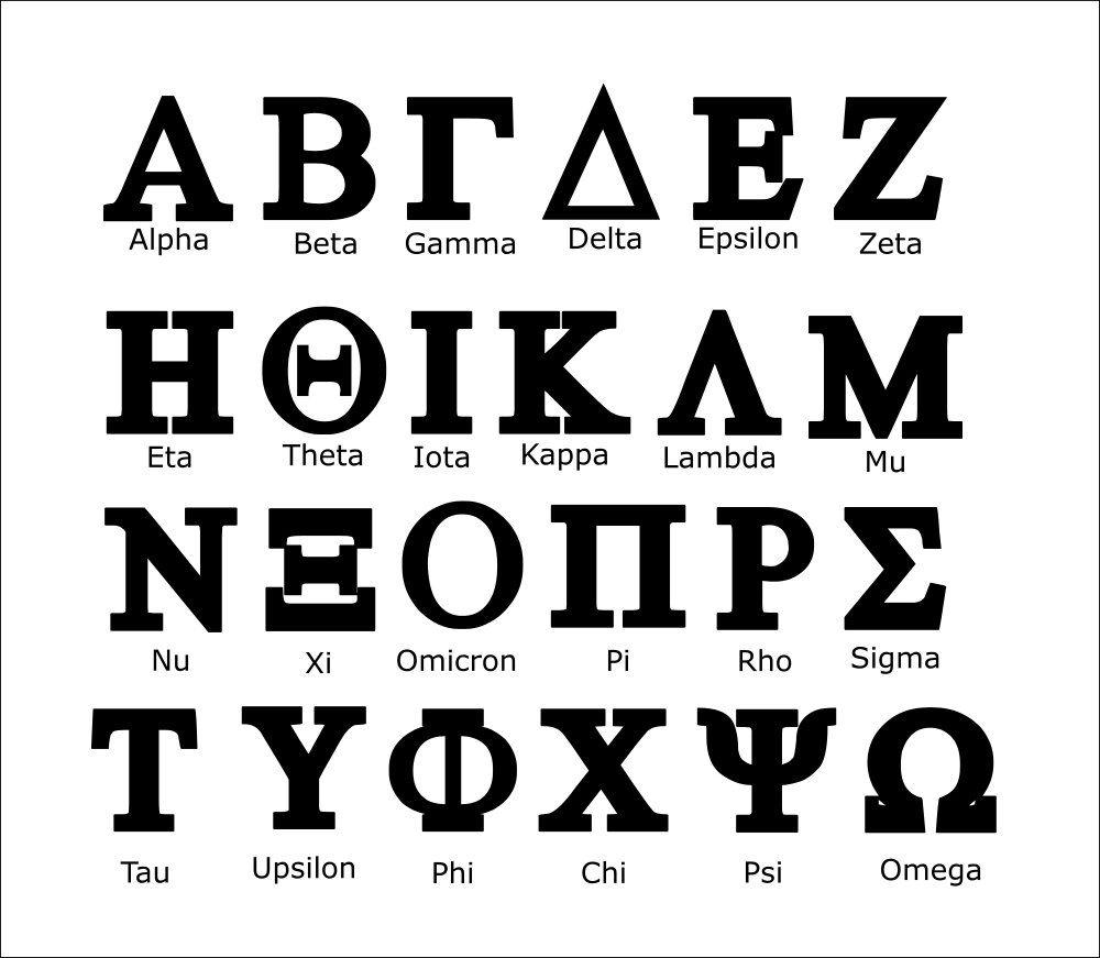 picture regarding Printable Greek Letter Stencils for Shirts called Greek Letters svg, Greek letters, Sorority letters svg