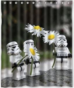stormtrooper and daisies shower curtain