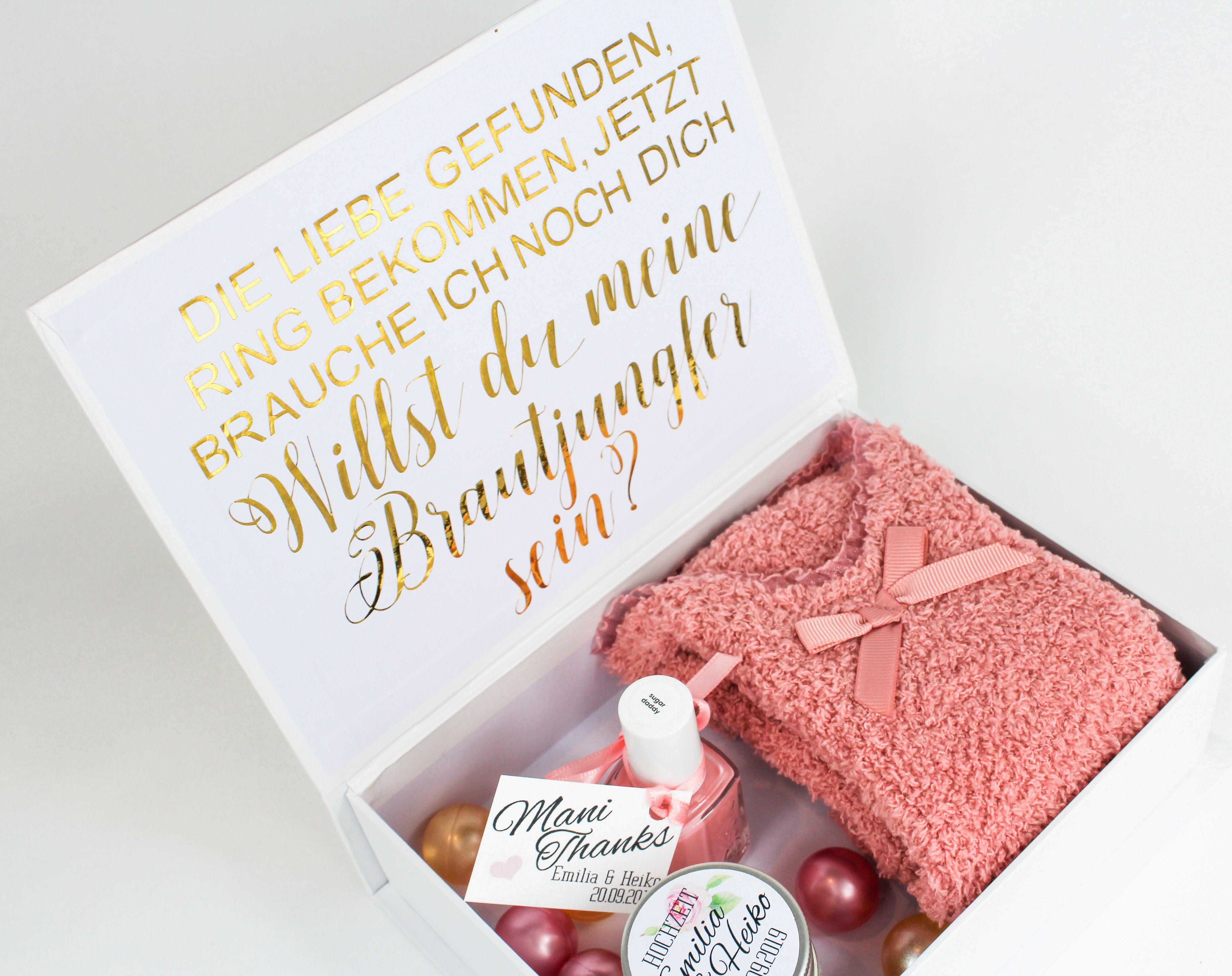 Geschenkbox Trauzeugin oder Brautjungfer  das perfekte