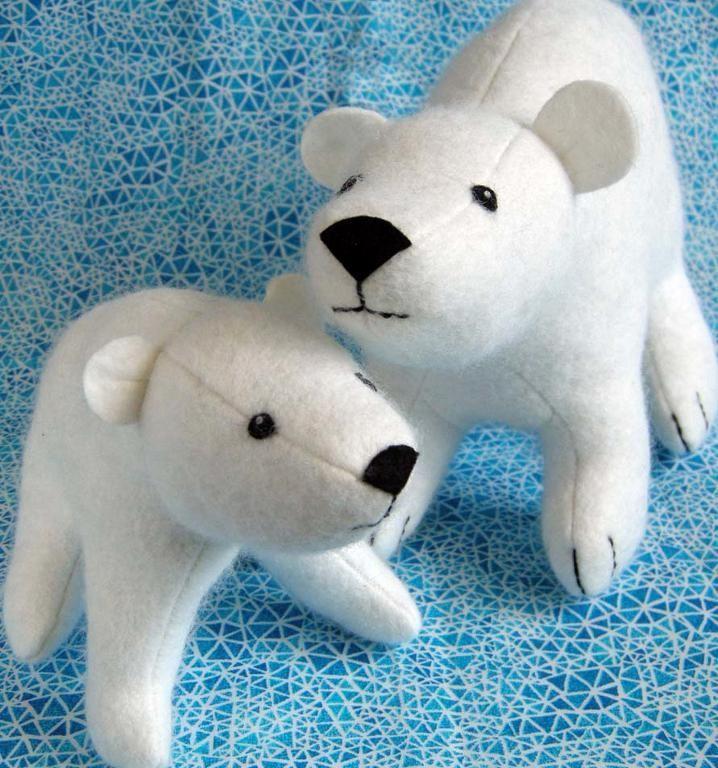 Flurry and Fluff stuffed felt Polar Bear Pattern | Felting, Bears ...