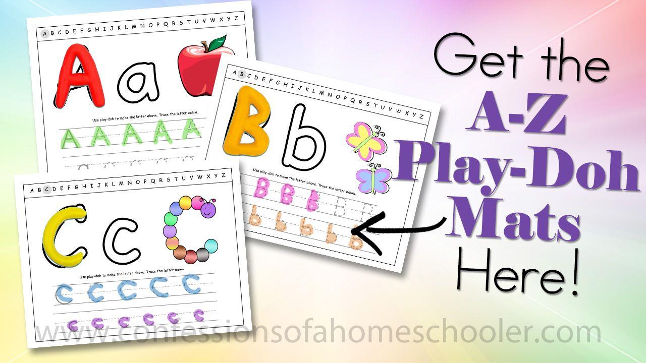 A Z Play Doh Mats Playdoh Mats Homeschool Phonics Printables [ 720 x 1280 Pixel ]
