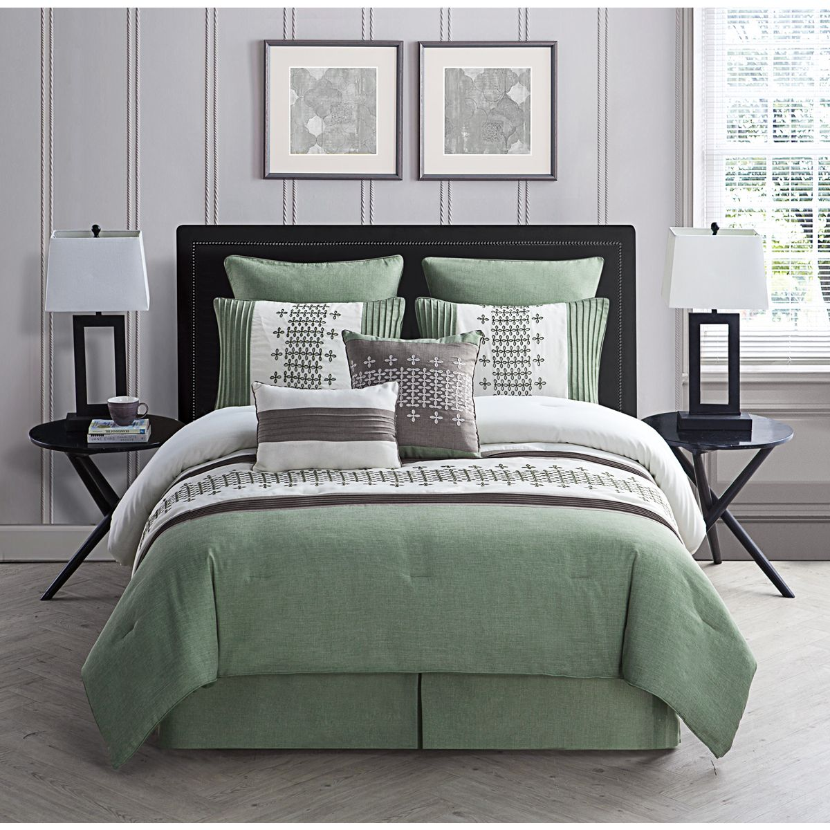 This Organic And Earthy Toned Comforter Set Will Give Your Bedroom A Soothing And Contemporary