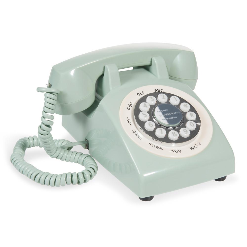 Téléphone vintage en plastique vert | Home Must Have ! | Telephone