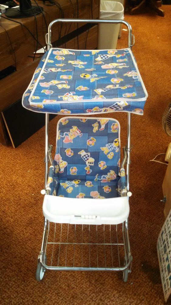 Peterson Cosco Kiddie Stroller Vintage Retro Folding With
