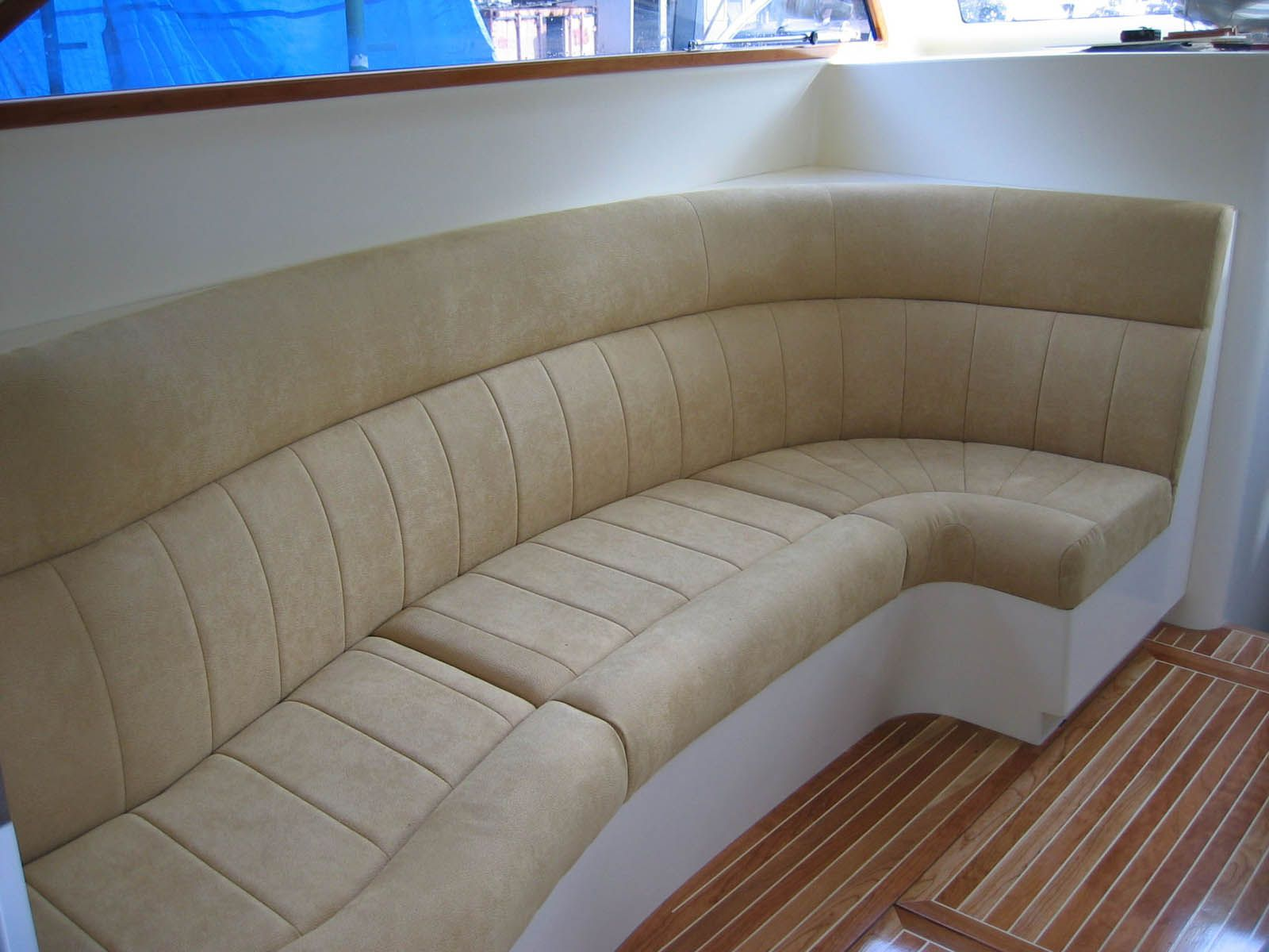 Re Upholster Boat Interior In Quality Upholstery Fabric For A Modern Look.  Raeline Upholstery Can Achieve This Look For Your Boat   Contact Us At ...