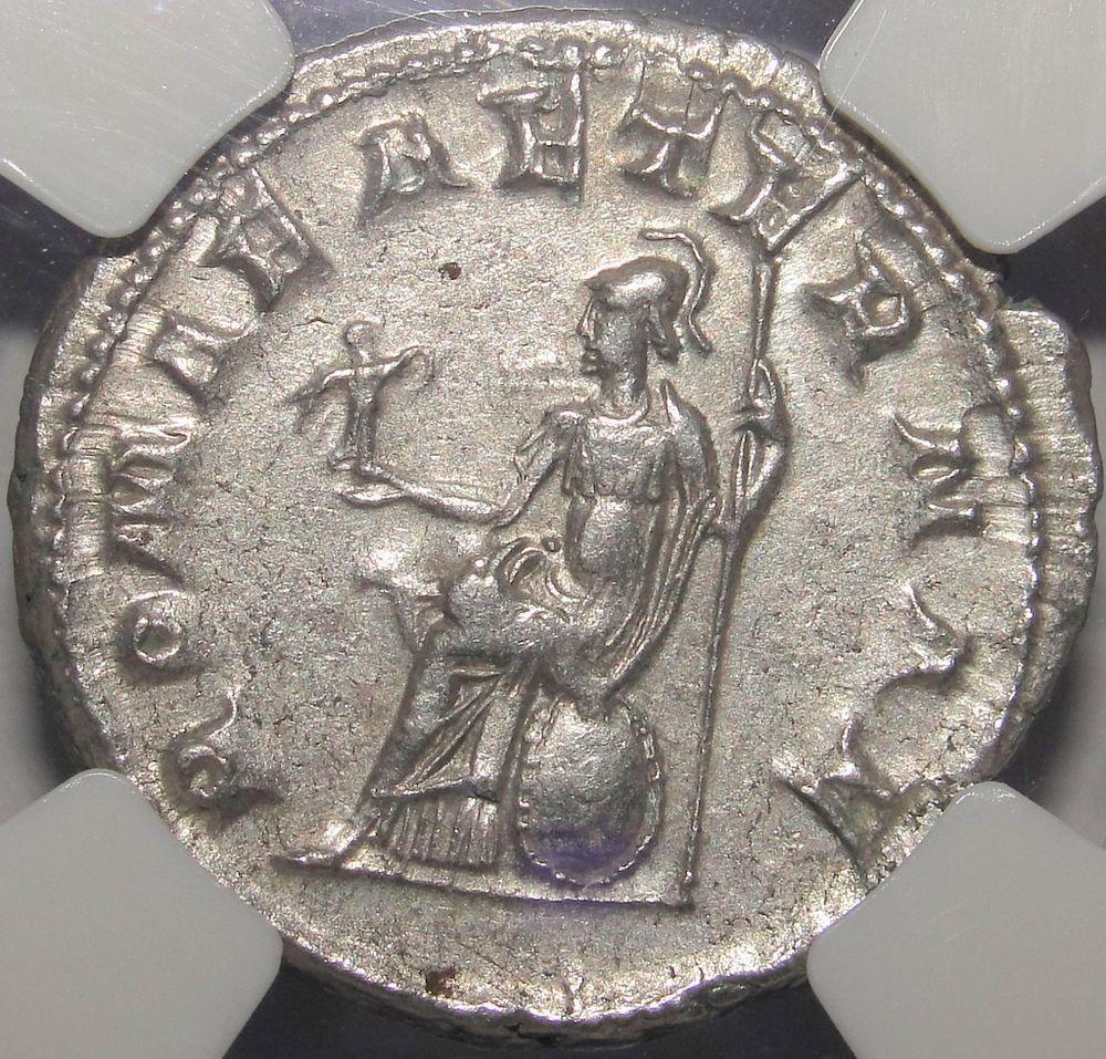 Gordian Double Denarius ROMA for ever NGC CH XF 5/5 Very rare Silver Roman Coin