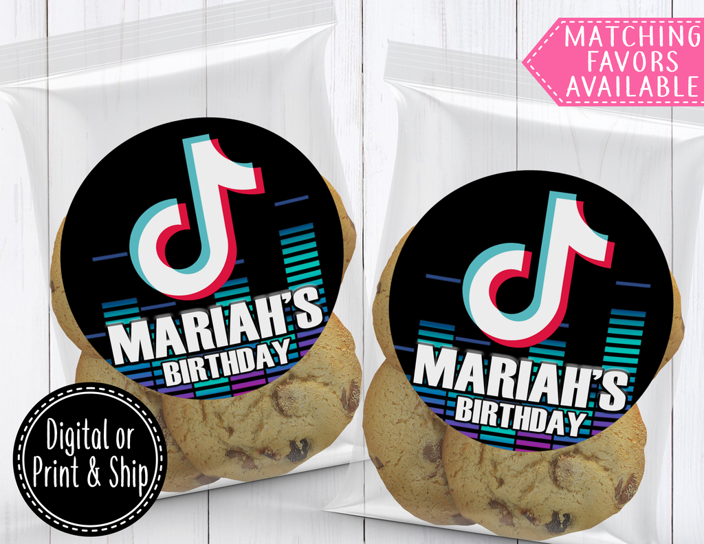 Tik Tok Sticker Labels Birthday Labels Birthday Party For Teens Birthday Party Themes