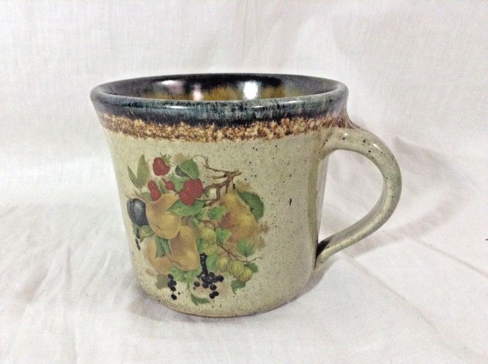 Monroe Salt Works Stone wear Coffee Mug Tea Cup Fruit