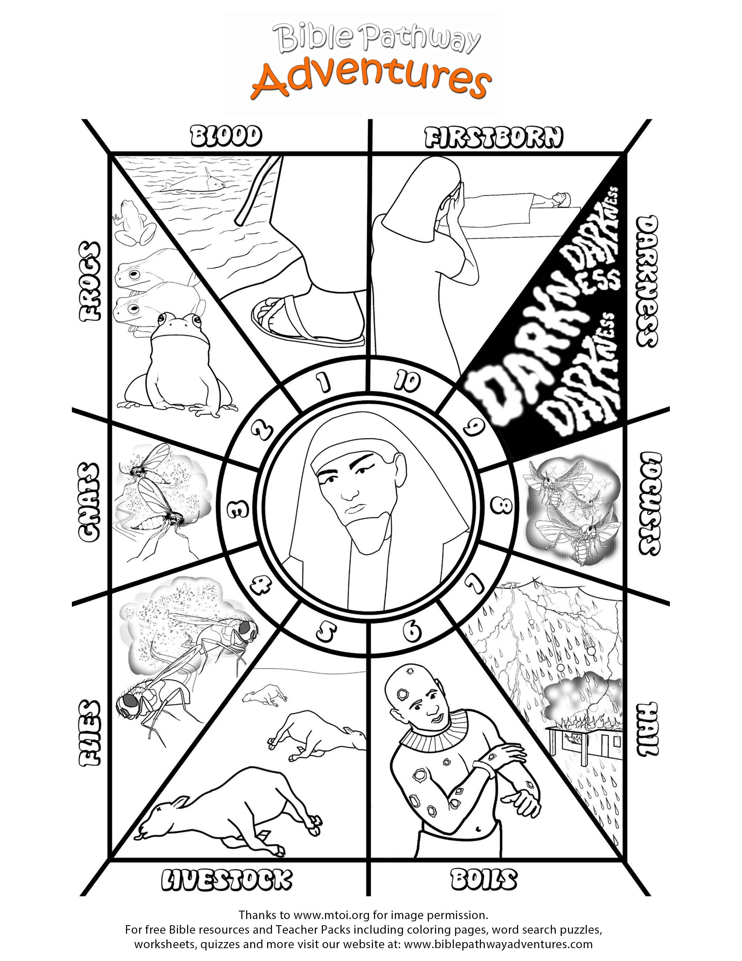 printable coloring page ten plagues of egypt  bible