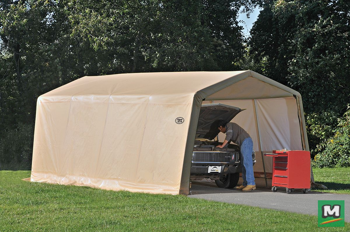 The ShelterLogic® 10' x 20' x 8' AutoShelter offers quick