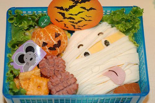 juegos de baño halloween   Nag on the Lake: Halloween Bento Ideas