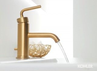 Gleaming Gold Bathroom With Images Gold Bathroom Plumbing Accessories Bathroom Sink Faucets Single Hole