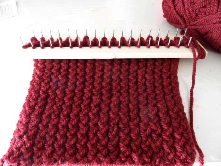 Learn how to knit with a rectangular loom | loom knitting ...